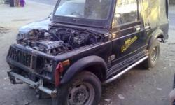Maruti Gypsy model 1990 Diesel Engine. condition accident. is for sale for the price of Rs. 65000/- color black for further information please contact: Haji Abid Khan 91 9926572030 or 91 9770019280