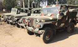 Army Military Used MM550 Jeep Thar Body Line Mint Condition All are Non working Condition( As it Army Condition) All Models available from 1999 to 2006 Price Varies according to Model and condition Price Range Rs 100000 To 180000 Regd charges Extra NOC