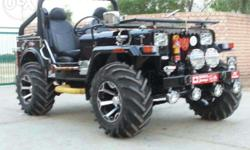 We modified jeeps on order as customers choice in Haryana state only. Power steering and power brake. Transportation facilities is also available. Facebook satish kumar jeeps.