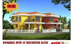 Reasonably priced, Exclusive fieldview facing 3 BHK individual Villas for sale at Nuvem, Margao - Goa. Project Under Construction. ready Possession In Feb-March 2016. 1) 3BHK with open terrace, 4 balconies, huge garden space, independent gate, all side