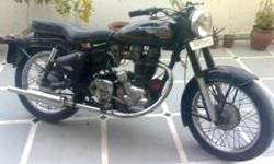 Hi, I wanna sell my Royal Enfield Bullet 1997 Model, Single Owner, Well Maintained, Black Color, New Exide Battery.