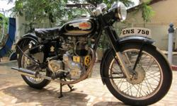 Royal Enfield Bullet . . 1982 Model Modified like 1950s G Model . . with brass fittings . .