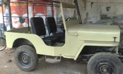 Hi I am interested to sell my willys 1955 model jeep some of the specifications are: left hand drive with petrol engine huericane petrol engine which has imported fron USA 3 speed gear box with 3 leavers wheel base is of 81cms which is the smallest wheele