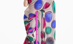 Cloth/Shoes/Accessories: Women Type: Sarees Product Code: JMTSR298CAL Fabdeal Casual Wear Light Grey & Pink Colored Georgette Chiffon Saree With Unstiched Blouse Fabric: Georgette Chiffon