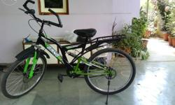Both the tyres with disc brakes,both side shock ups. Cycle in a very good condition without any scratches.