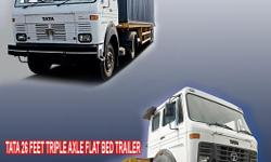 Expired ad. Please do not contact! 1 tata 26 feet triple axle flat bed & 4 tata 12 m 2 axle skeletal trailer for sale specifications- (1)tata 26 feet triple axle flat bed trailer (35200) model: a/trailer lps 4018 reg. & mfg. date: july 2012 (2) tata 12 m