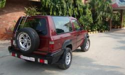RAREST OF RARE TATA SIERRA TURBO 2000,CHERRY COLOR ALL ORIGINAL IN IMMACULATE & MINT CONDITION FITTED NEW BRAND BROAD TYRES WITH CROME ALLOYS