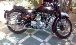 wine colour desent royal enfield, top condition,all new parts & acceserise,new tyre, high stoke,