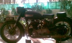 Hello Everyone !!! Myself Ayaz . R . Rangrej. 1) TRIUMPH 5T, 500cc Twin - 1949-50's model in running condition in an original looks. It is half kick start bike. It is considered as 1949-50's model according to Triumph company records and 1953 model