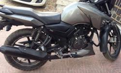 Tvs apache 160 grey 2014 model 22500 km run with new tyres and xenon LED headlight The bike is in new conditions