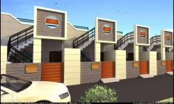 Garden facing Stylish and attractive rowhouse, having a bedrooms, haal, kitchen, car parking, rooms with attached late bath and dress. Near A B Road Jawahar Nagar/kela Devi Mandir square. Only two remaining. Loan facility available.