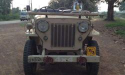 original willys jeep no modification done,no changes done at all. complete papers fitness and insurance. no mechanical work needed at all, four wheel drive and 3+1 gearbox,brand new MRF tyres and Exide express battery. model 1974.