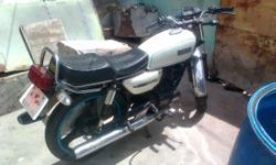 YAMAHA RX 100 1989 MODEL, WHITE COLOR, ALLOY WHEEL, CHENNAI REGISTRATION, FANCY NUMBER, BOOK IS NOT IN CURRENT, GOOD CONDITION