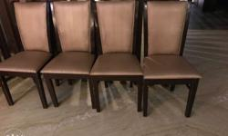 100 Brown Wooden Framed Chairs With Brown Cushion Rs