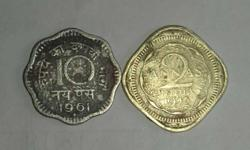 10 And 2 Indian Paise Coins