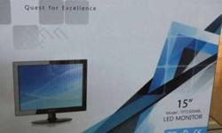 15 inch led monitor brand new with warranty call