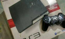 160GB ps3 with 10 orignal Games