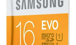 16gb White And Yellow Samsung MicroSDHC Card