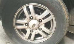 16inch Mag wheels used in Scorpio 60percent tyres all