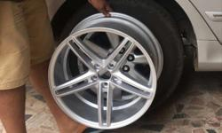17 inch gtr alloys, pcd : 100*5 hole, 8j, no scratches,