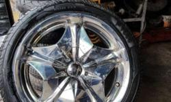 17 Inch Hard Chrome Alloy wheels with Tyre Antique