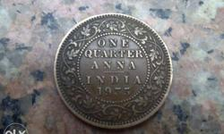 1935 1 Quarter Indian Anna Coin