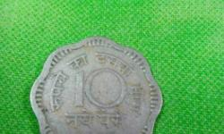 Ten Naye Paise cupro Nickel 5gms Eight Scalloped 23mm