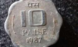 1987 10 India Paise Coin
