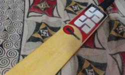1 month old ss leather bat new condition leather bat