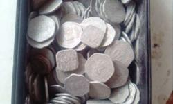 Coins of 5 .10, 20 paise old coin full box. 200 no