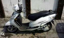 Tvs wego white colour in new condition less drive