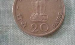 20 Indian Paise Coin