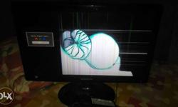 22inch led Samsung moniter lcd broken problem call me