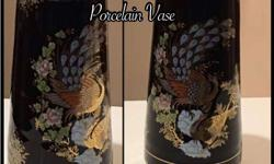 24K Gold plated Porcelain Vase