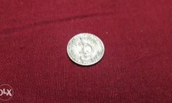 25 Indian Paise Silver Coin
