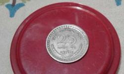 25 paisa 1967 old coin. .negotiable