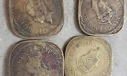 2 aana coin, this is very rear coin ,5pic set only 900