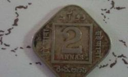 2 Annas Of George V Year 1924 for Sale