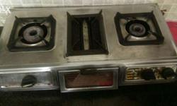 2 burner with one grill chullah, in excellent working