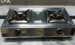 Its ISI marked stainless steel 2 burner L.P. Gas stove.