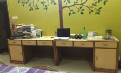 2 huge study tables tailor made out of wood and ply.