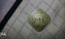 2 Indian Paise, its very unique coin, Year 1925