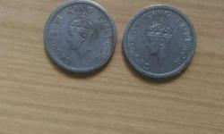 Last 2 silver british Goroge 6th king Emperor 1 rupee