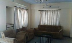 2bhk 3 room kitchen furnished flat with Bed cupboard Tv