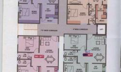 2BHK Flat at 4th floor with false ceiling and covered
