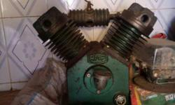3 Hp compressor with motor. Serviced,