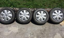 3 jk tyre and 1 MRF tyre with wheel rim . Bilkul new