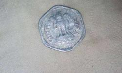 3 paise indian coin old in1966