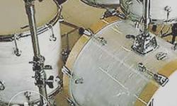 Professional jazz drums kit Wit hardware n throne. Call