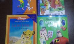 4 books,DISNEY activity book & story book,Pooh story